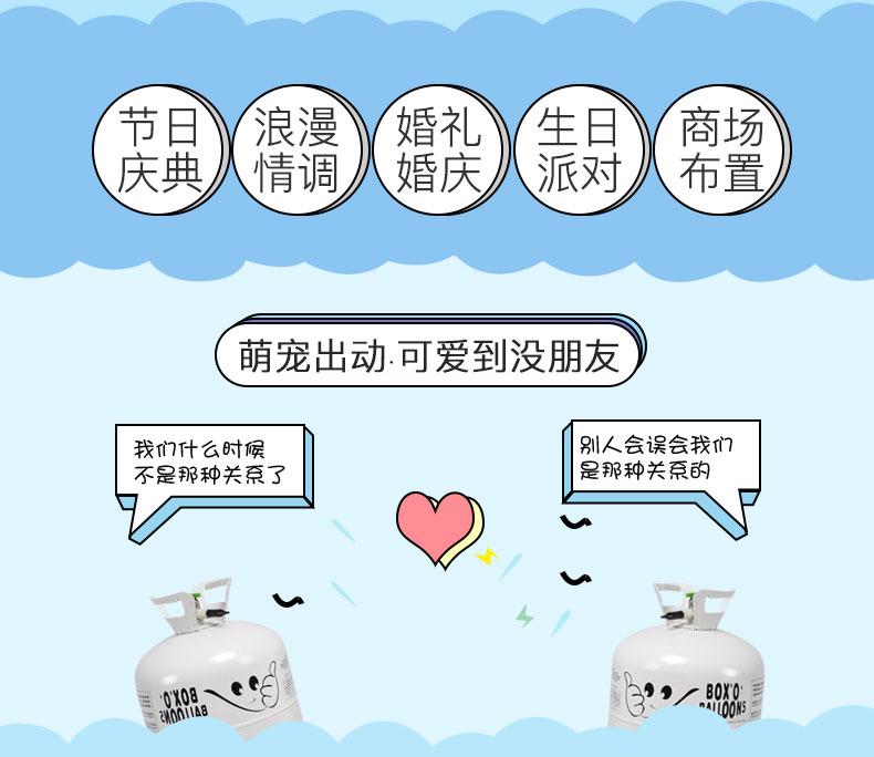 大氦气罐氮气小瓶结婚礼装饰生日布置汽飘空气球打气机打气筒详细照片