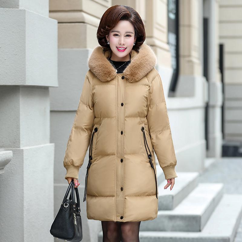 40岁中年女装冬装新款外套中老年妈妈装冬季中长款棉衣时尚棉服
