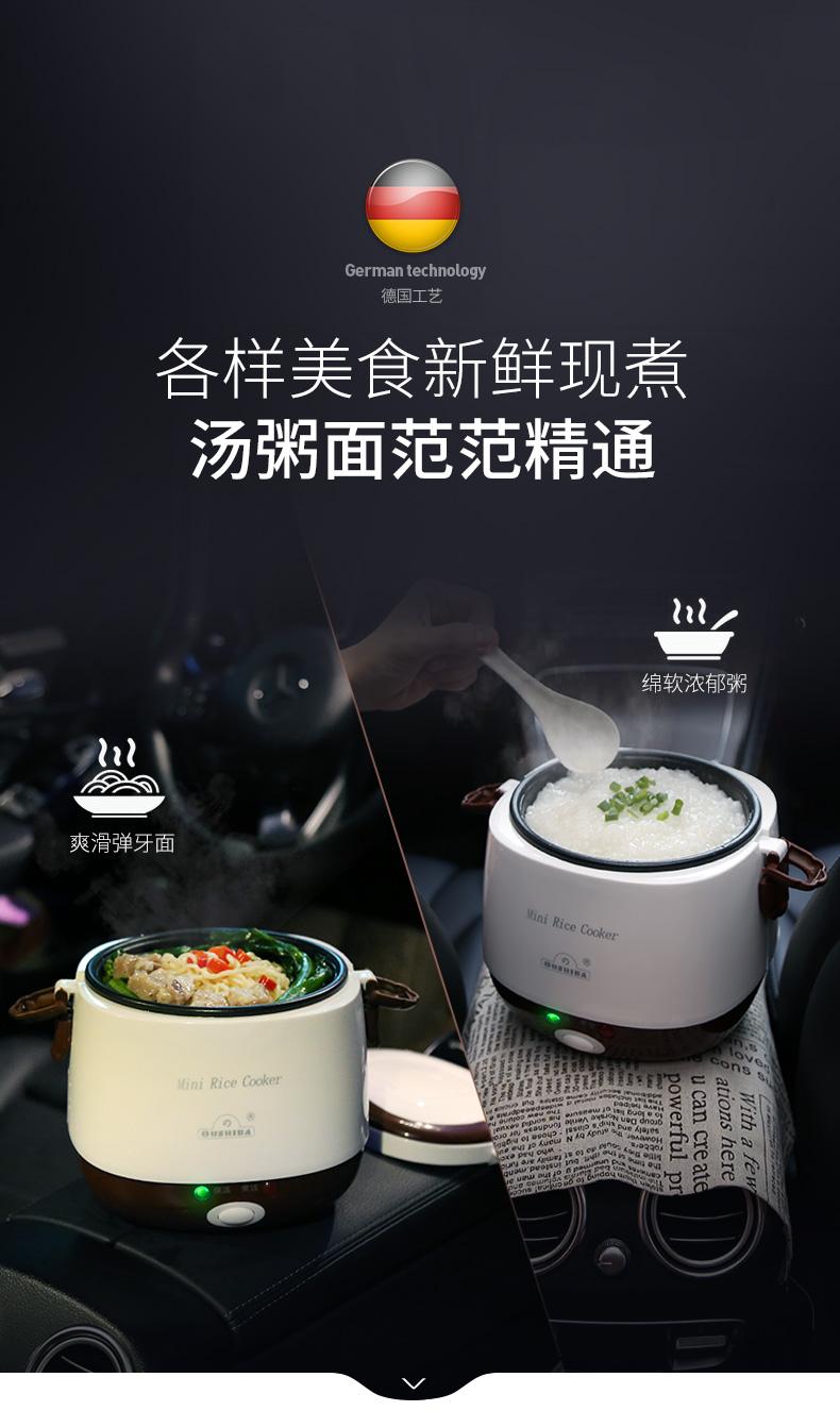 欧之宝 12V / 24V 车载电饭煲 60包邮