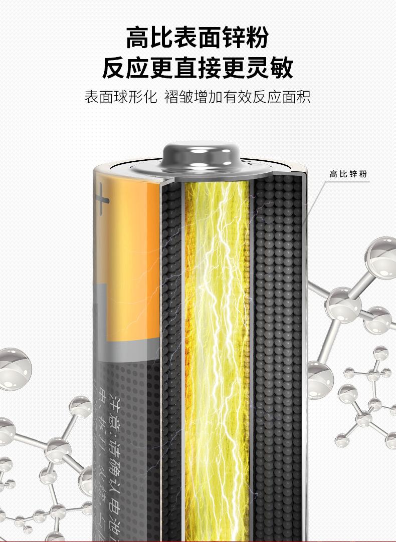 南孚官方旗舰店 3代聚能环电池 5号/7号碱性电池 24粒 图4