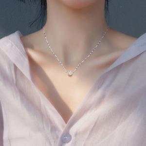 韩版时尚简约锁骨链转运珠项链