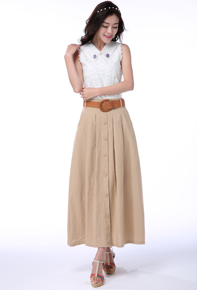 Shipping Summer Pleated Long 24