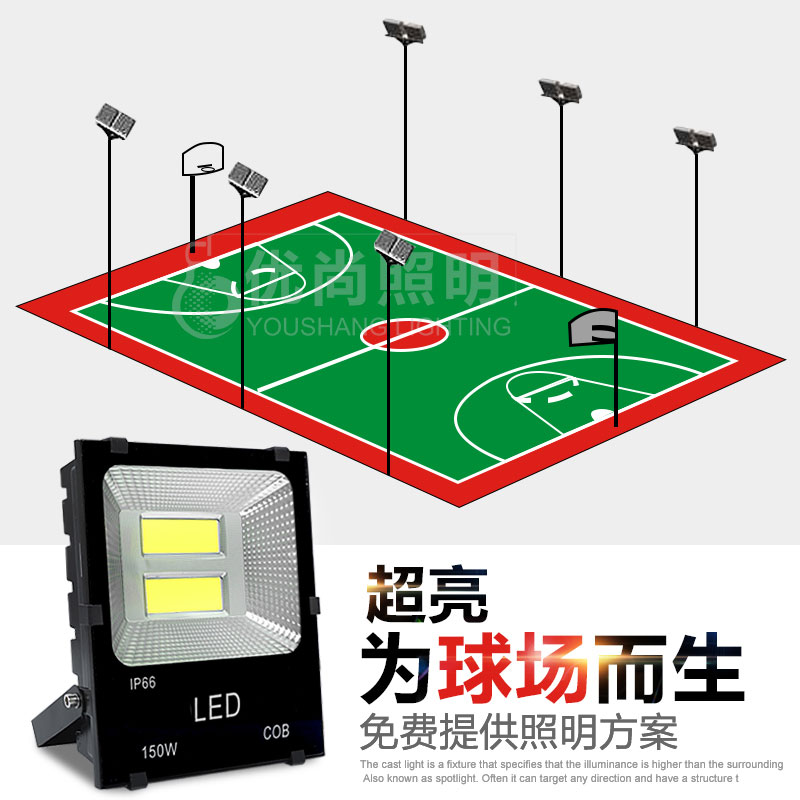 Spotlights Led Outdoor Basketball Court Lights Lighting Cast Light Tennis Waterproof Football Super Bright Stadium Badminton