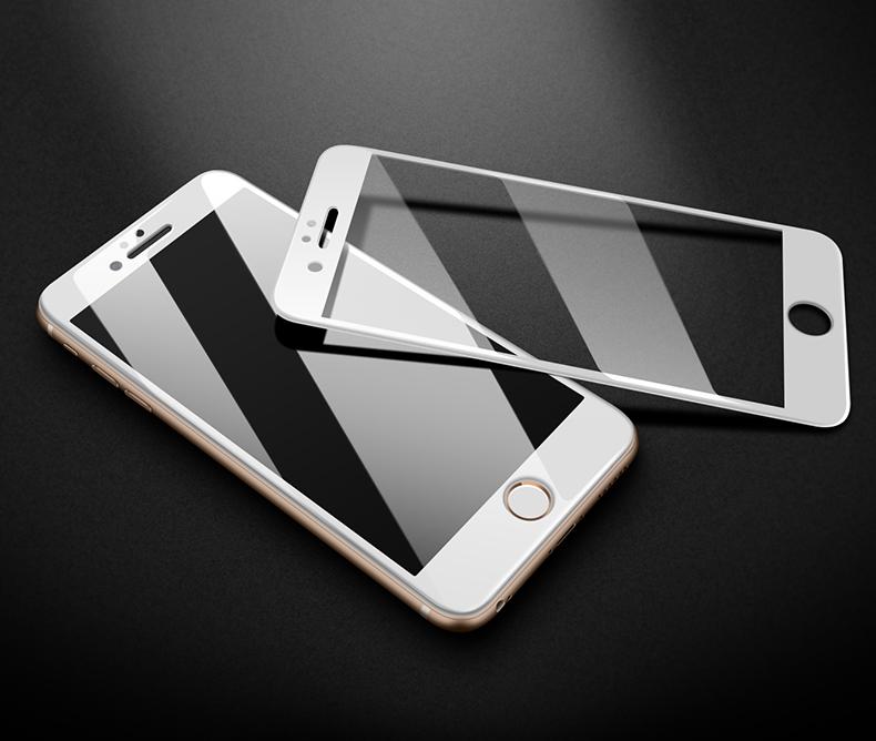 钢化膜苹果全屏全覆盖抗蓝光手机保护膜全包边防摔指纹六玻璃寸详细照片