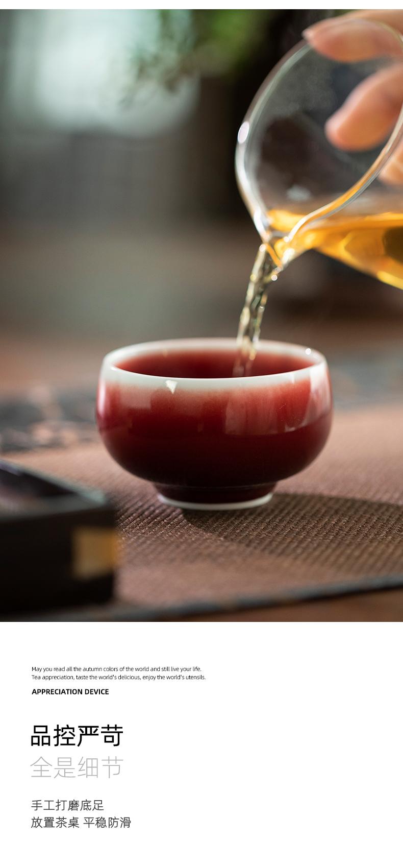 Jingdezhen LangHongChan individual CPU high - end masters cup single CPU kung fu tea special sample tea cup