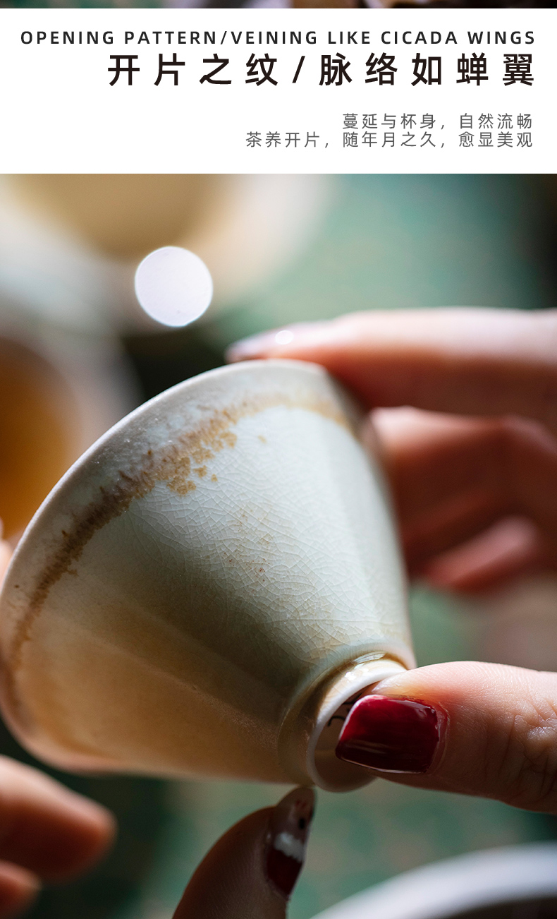 Firewood mountain contributor perfectly playable cup jingdezhen natural dust to make a fire unglazed ceramic masters cup cup by hand