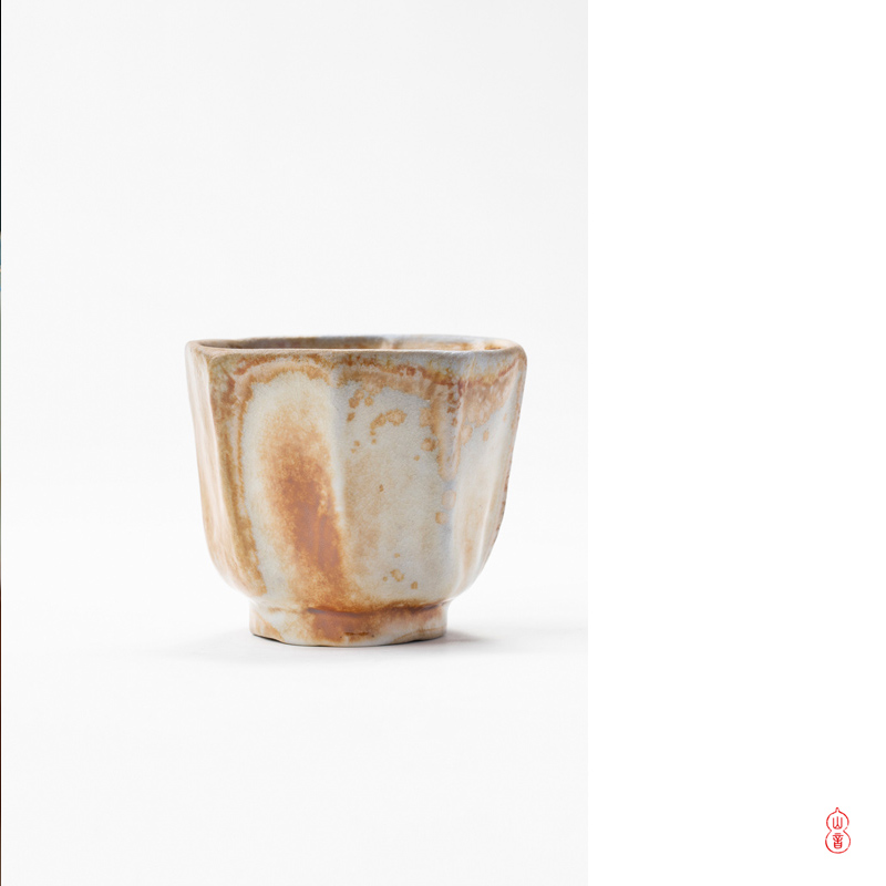 Jingdezhen firewood irregular bare hand molded cup natural dust'm pure manual master cup single CPU