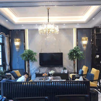 德匠后現代吊燈全銅水晶吊燈 客廳簡約個性創意餐廳燈輕奢燈具