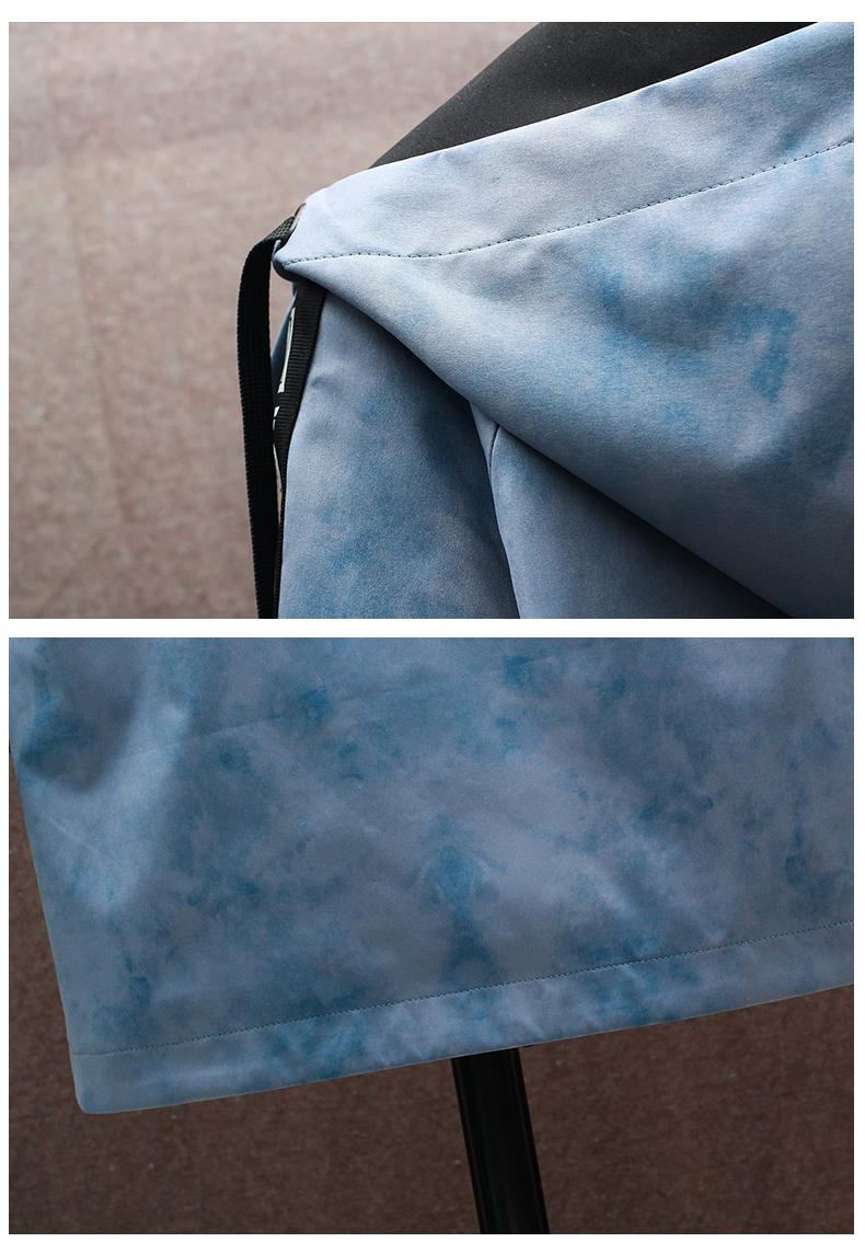 Medium-length windcoat jacket men's 2020 new teen Korean version trend plus velvet plus thick autumn and winter jacket top 63 Online shopping Bangladesh