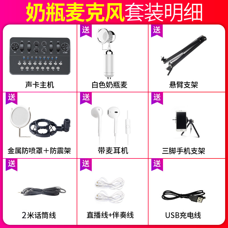 Ceramic Black [send White Bottle Microphone + Cantilever Bracket + 2 Meters Headphones]