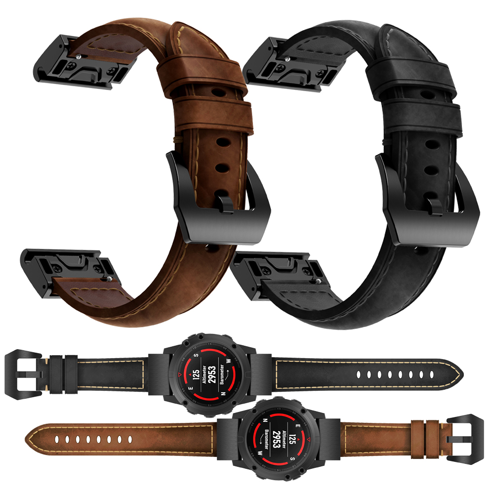 限時優惠 清風數碼 Garmin 佳明 tactix bravo 手錶帶 瘋馬紋 真皮腕帶 頭層牛皮 替換腕帶