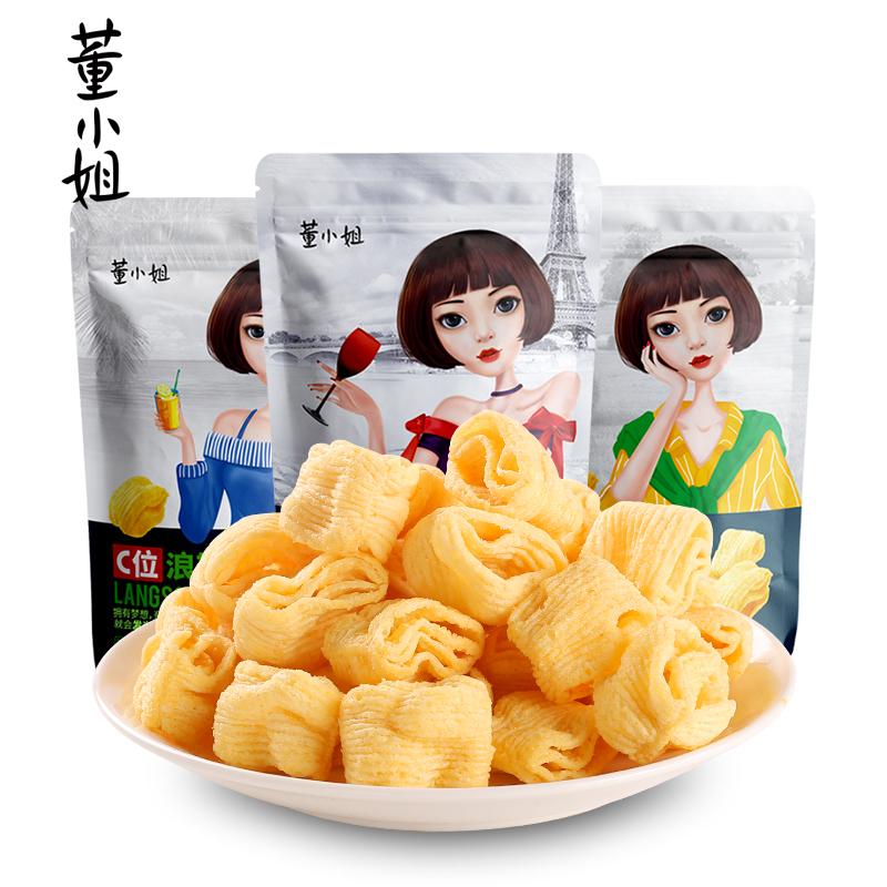 董小姐薯片C位浪斯卡35g膨化零食薯片大礼包网红休闲怀旧小吃食品