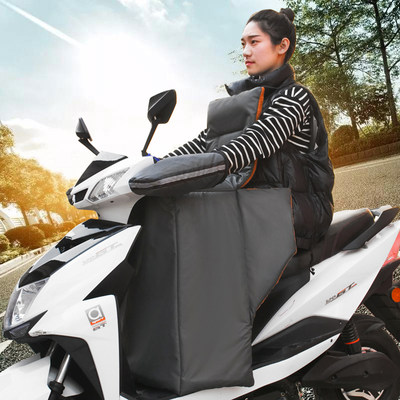 Electric motorcycle windshield is thickened in winter by adding velvet to increase the windshield of the battery car for cold and warm waterproof windbreaker