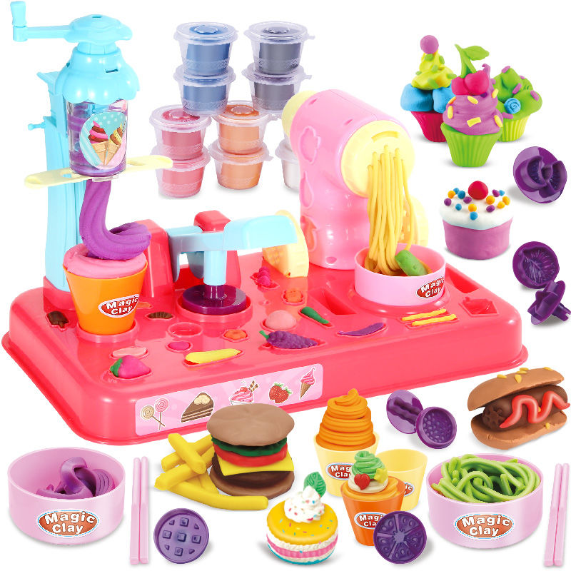 Children do ice cream ice cream noodle machine toys rubber clay handmade clay light clay mold set