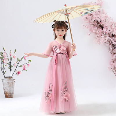 Childrens Chinese Hanfu super immortal Chinese style childrens clothing baby ruskirt girls ancient dress FAIRY DRESS ancient style dress
