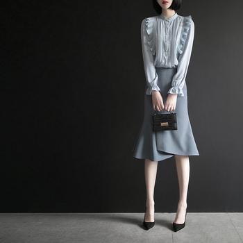 Other uniforms,  Другой пустой C917 осень 2020 новый два рукава гриб края куртка женщины мужской рыбий хвост юбка мода установите, цена 3722 руб