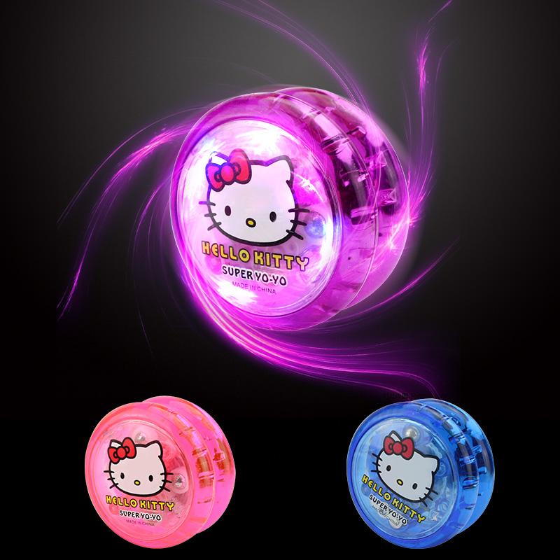 Yo-Yo Glowing Học sinh tiểu học đầy màu sắc Sáng tạo Fancy Flash Kids Push Người mới bắt đầu Glare Stall Girl - YO-YO
