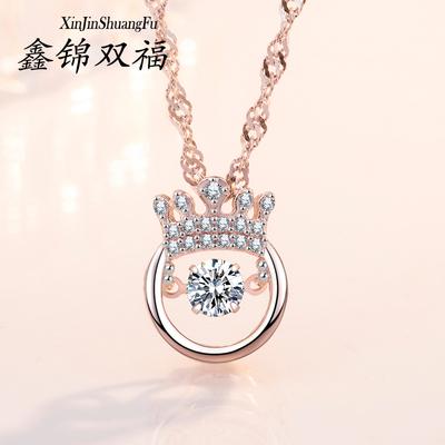 纯银皇冠项链女气质简约百搭锁骨链