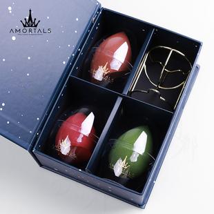 【双11预售】尔木萄美妆蛋不吸吃粉海绵粉扑化妆葫芦彩妆蛋三个装