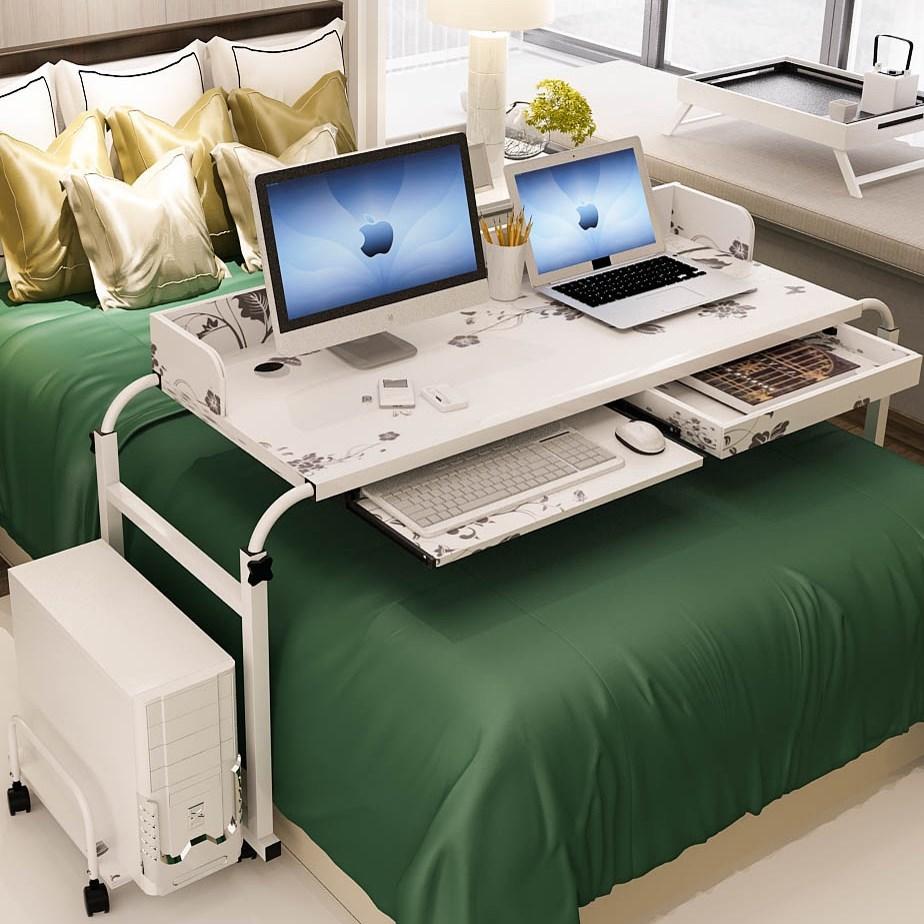 床上电脑懒人桌台式机家用双人电脑桌床上书桌可移动跨床桌