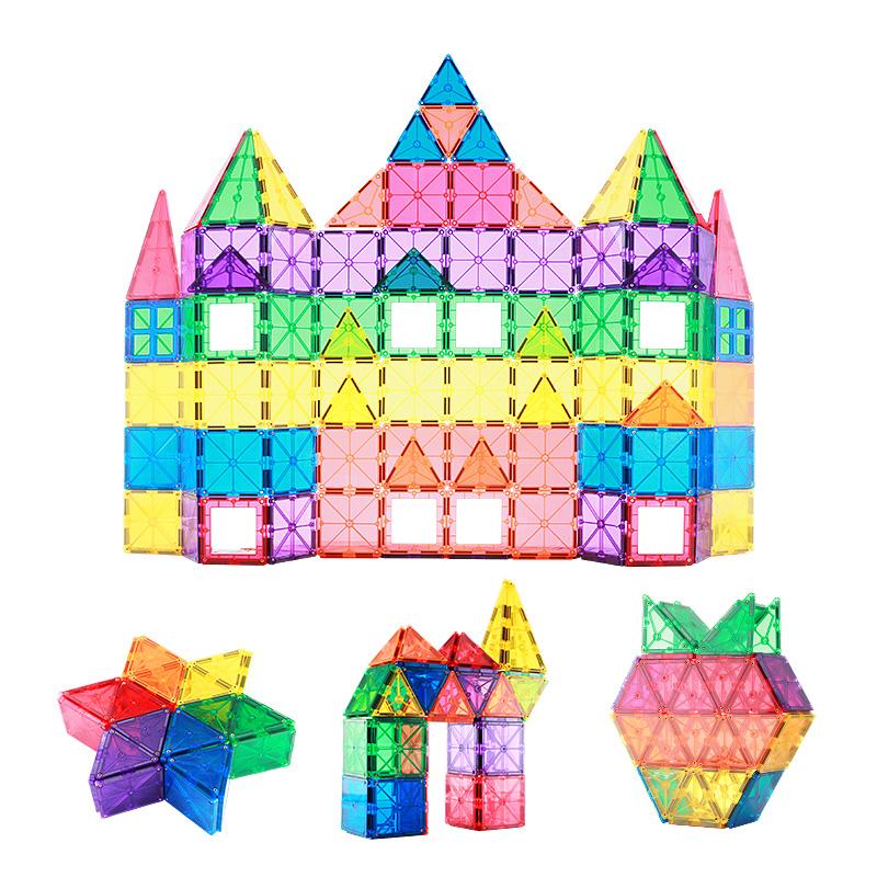 儿童彩窗磁力片构建片玩具