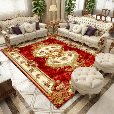 European style living room coffee table blanket sofa luxury carpet bedroom bedside cushion room American household thickened floor mat customization