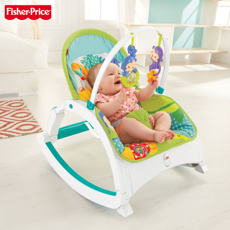 Fisher-Price tropical rainforest multi-function rocking chair baby ...