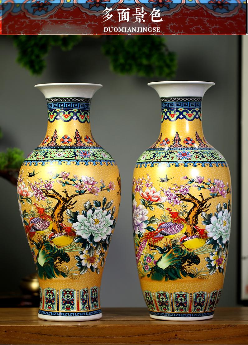 Jingdezhen ceramics mesa of archaize colored enamel vase home sitting room adornment qianlong products copy furnishing articles