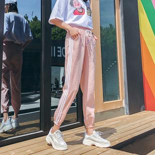 运动裤女春夏季裤子薄款束脚裤