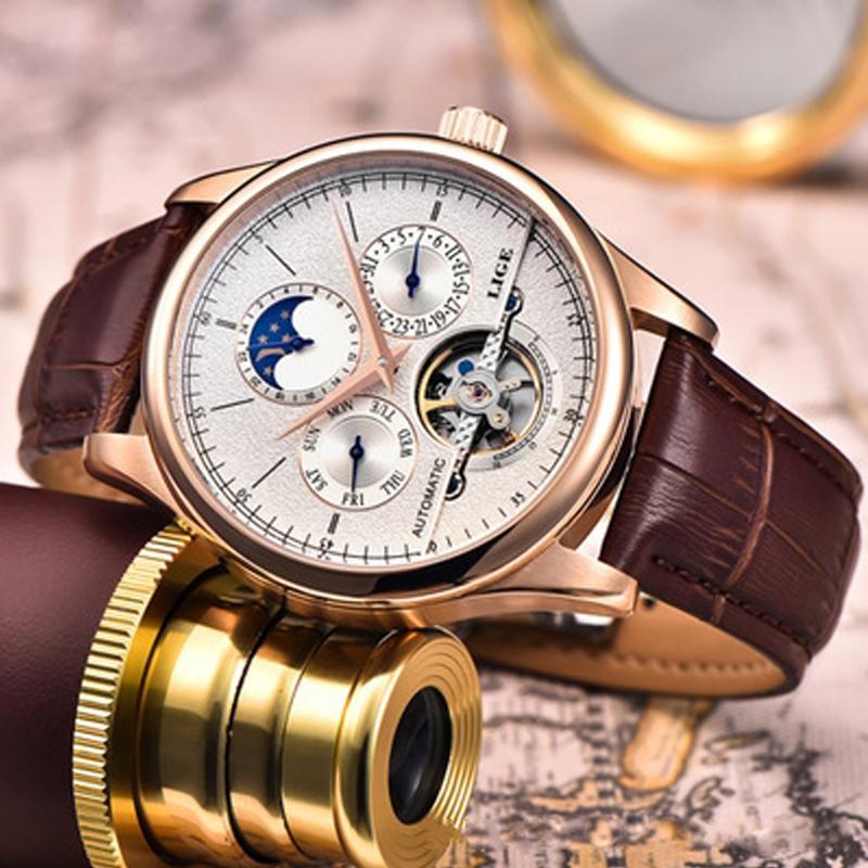 手表男士全自动机械表潮流2019新款 防水机械表男表腕表