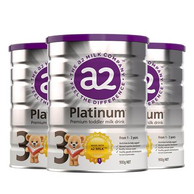 a2新西兰白金版进口婴幼儿配方奶粉3段1-3岁宝宝适用 900g/罐*3