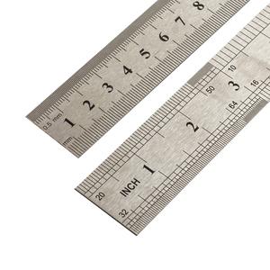 钢直尺套装加厚木工钢板尺不锈钢直尺尺子学生文具钢尺15/20cm