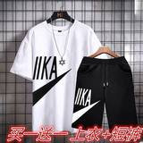 Casual suit boy summer short-sleeved T-shirt shorts sports youth junior high school students tide brand personality ins set