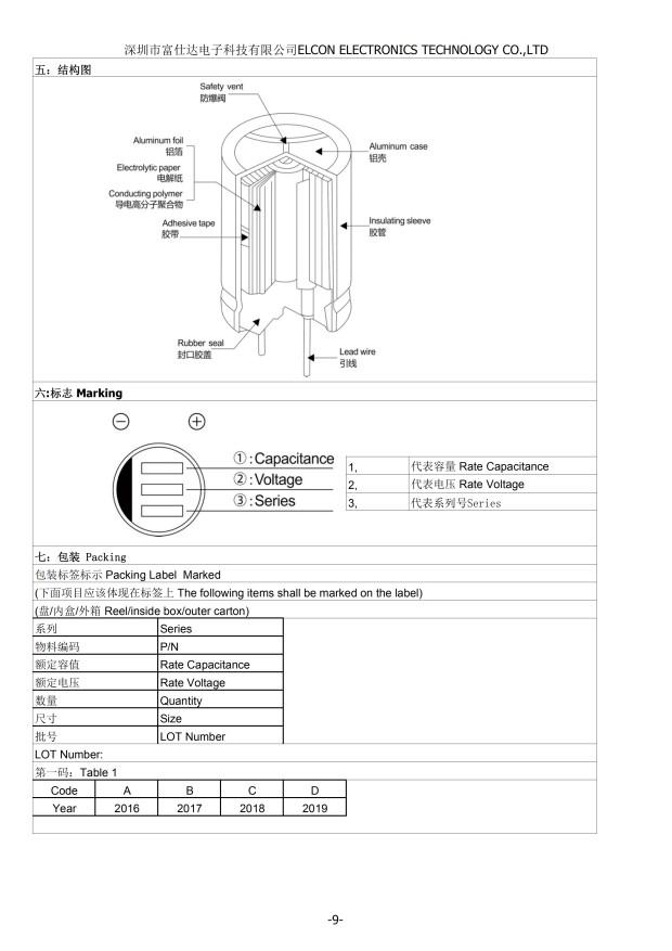 ELCON 固态电容 PB 2.5V 820UF 8*8MM 直插固态电容器(图9)