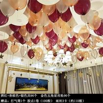 Children's wedding 10-year-old boy birthday arrangement birthday decoration venue balloon girl hanging beautiful hotel