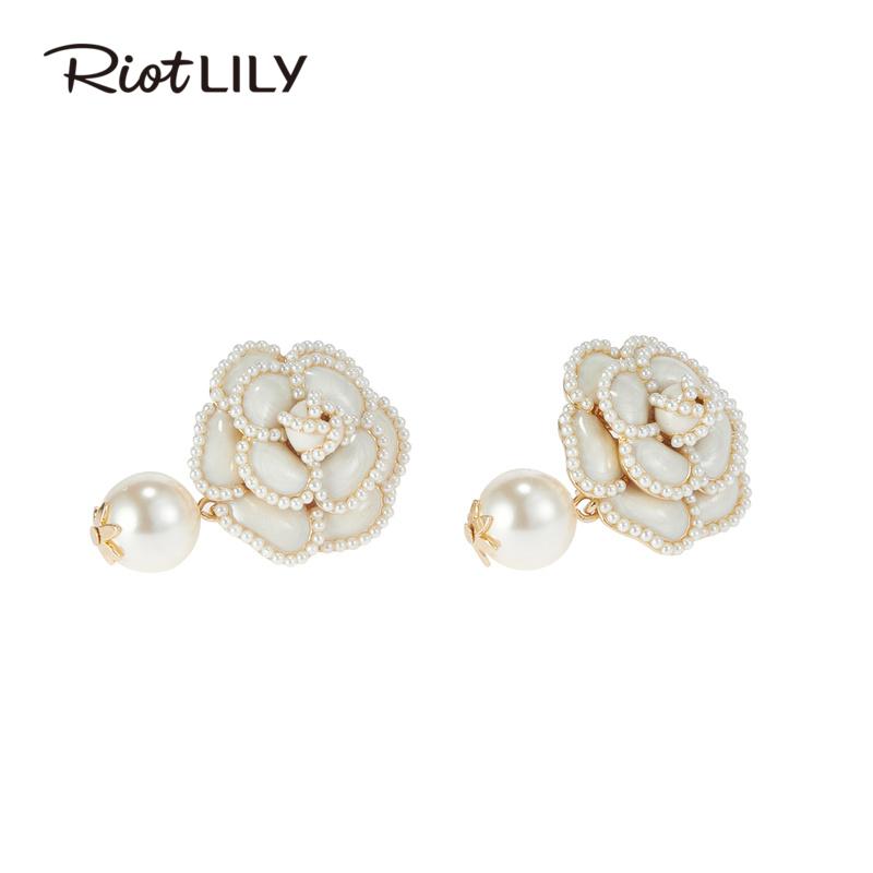 Riotlily/艾特里里浪漫山茶花耳钉精致耳钉高级感