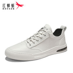 Red Dragonfly shoes men's fashion shoes 2021 summer new small white shoes men's breathable shoes deodorant thin casual board shoes