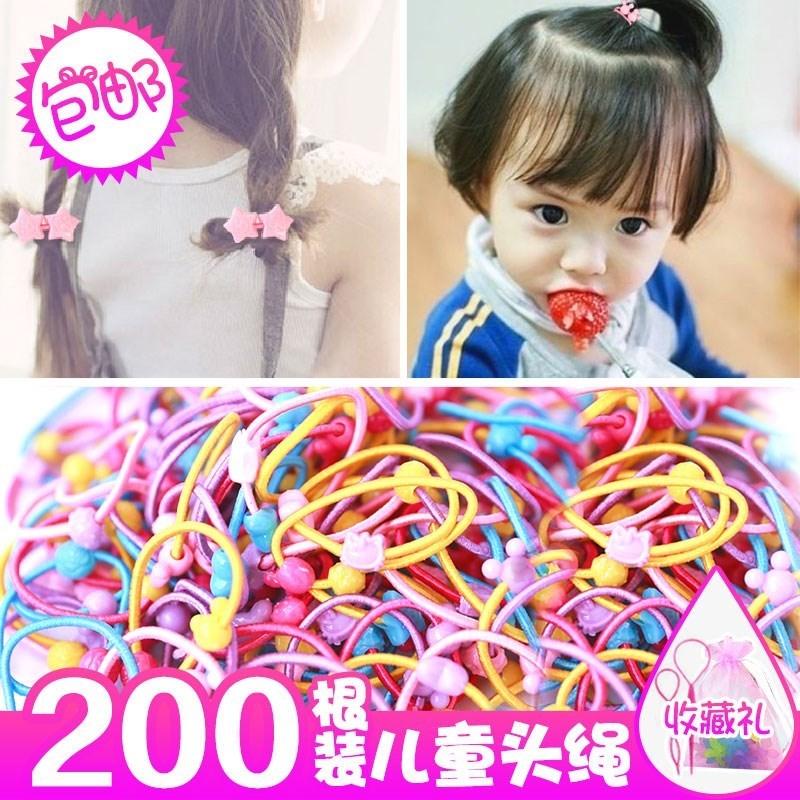 儿童头绳宝宝发饰公主扎头发小橡皮筋不伤发女童发绳可爱发圈头饰