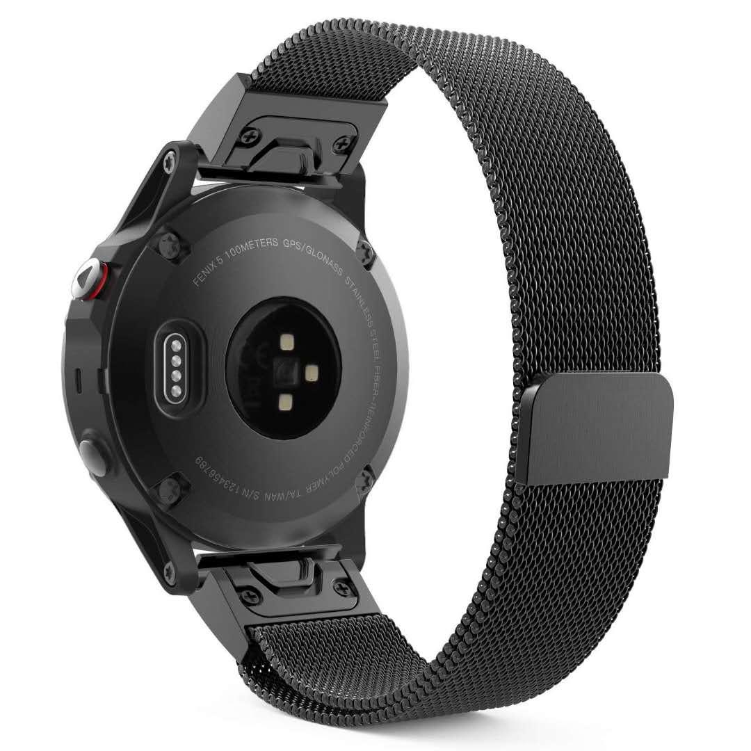 限時優惠 清風數碼 Garmin 佳明 d2 bravo/quaitx3 手錶帶 磁吸回環 米蘭尼斯 金屬不鏽鋼 替換腕帶