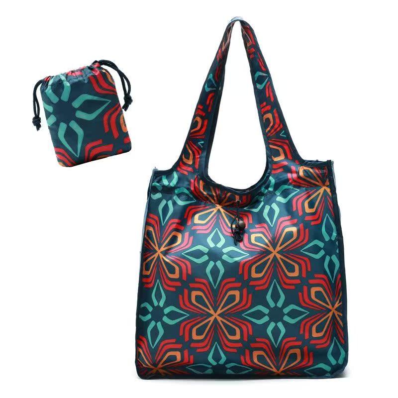 可折叠超大容量购物袋环保袋防水超市单肩手提袋子尼龙买菜包便携