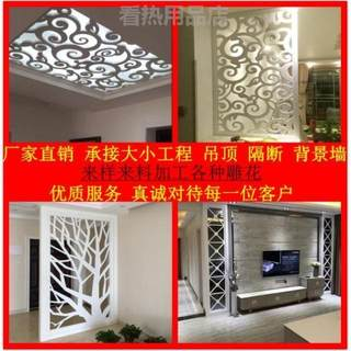 Contemporary ceiling warm hood porch background living room screen density board hollow partition compilation