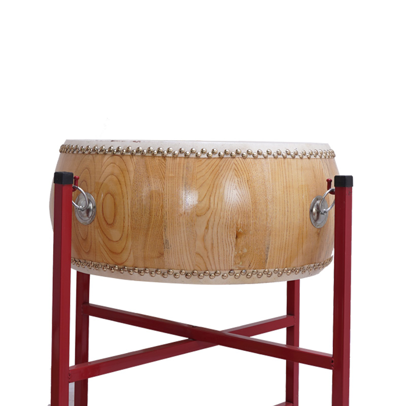 Adult white stubble drum Daoist method drum Chun wood yellow cow leather drum drum head layer cowhide drum drum wood color flat drum