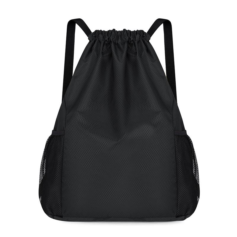 定制束口袋抽绳双肩包大容量收纳袋运动篮球包旅行轻便防水背包男