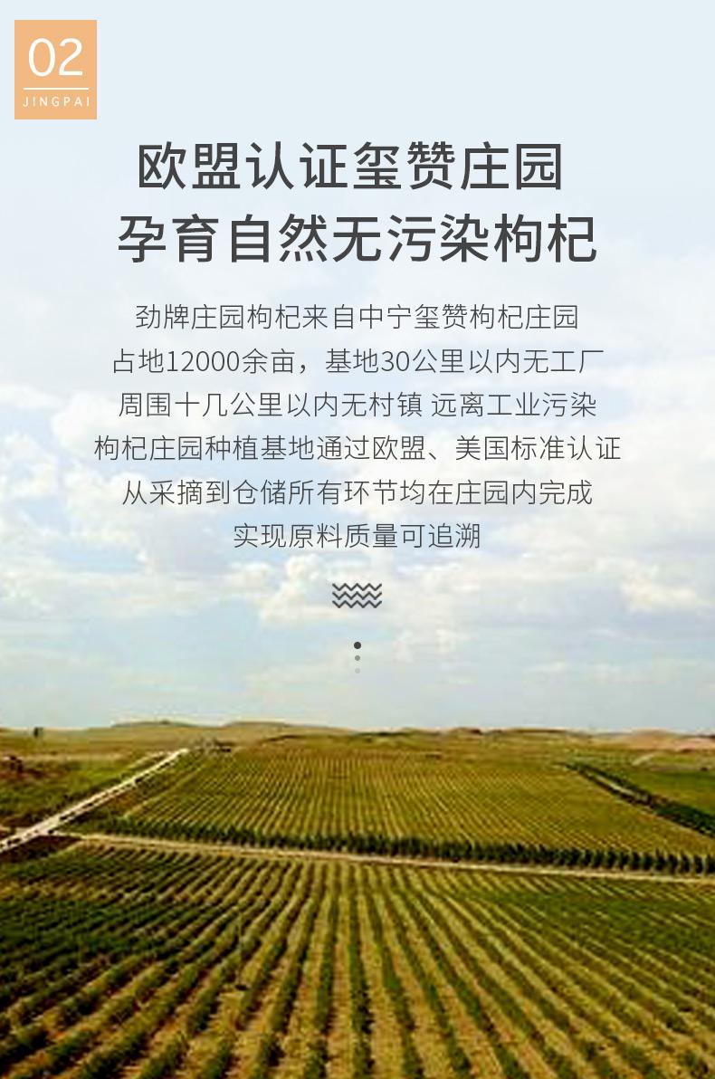 劲牌持正堂!宁夏特级红枸杞200g4