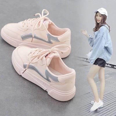 2020秋季百搭运动小白鞋女最新款潮学生低帮休闲帆布鞋子韩版ins