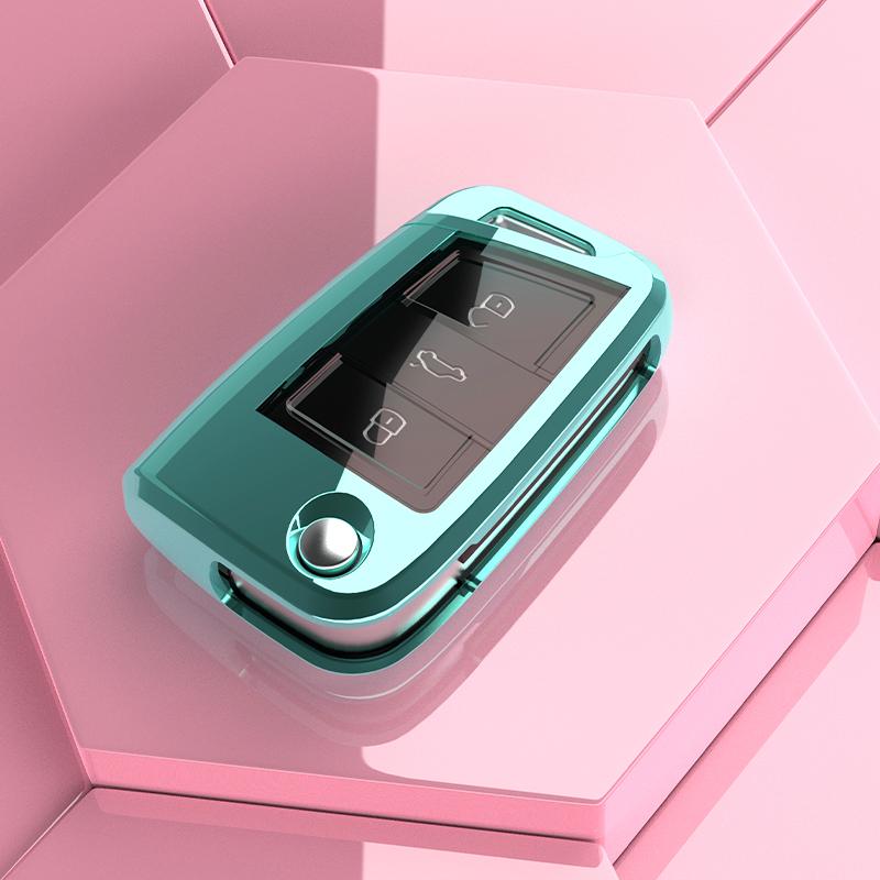 适用于大众捷达vs5钥匙套vs7汽车钥匙保护壳车内用品改装扣装饰包
