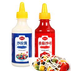 沙拉酱番茄酱组合家用水果蔬菜香甜味萨拉酱色拉酱沙拉套装挤压瓶
