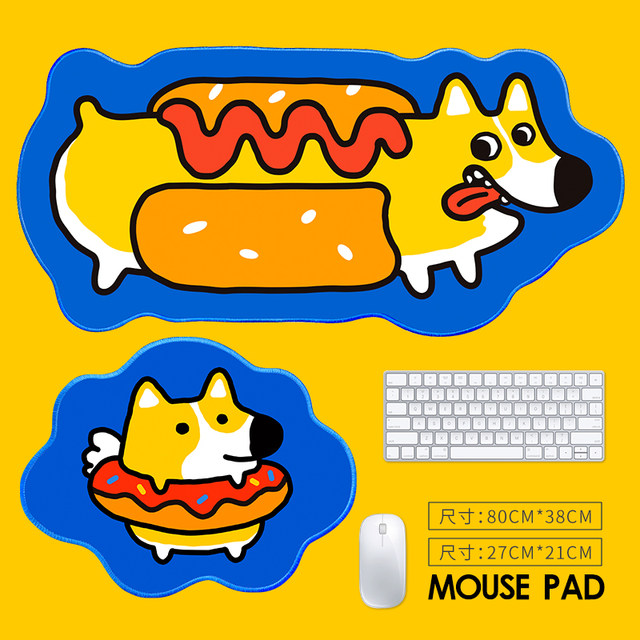 Mouse pad female super large computer standard table pad custom small INS style cute creative anime male game E-sports