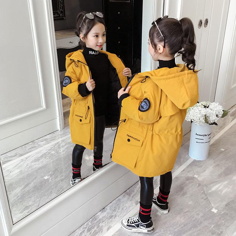 女童冬装2019新款棉服韩版女孩中长款洋气棉衣儿童加厚棉袄外套潮