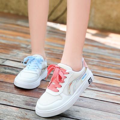 女童鞋2019新款夏季儿童时尚运动鞋透气网面网红小白鞋春秋中大童